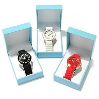 Arm Candy Women's Set of 3 Rubber Strap Watches