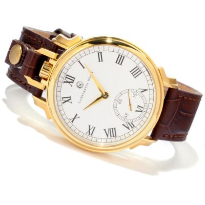 607-079 - Constantin Weisz Men's Mechanical Convertible Strap / Pocket Watch