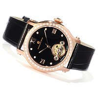 Constantin Weisz Women's Crystal Accented Mechanical Strap Watch
