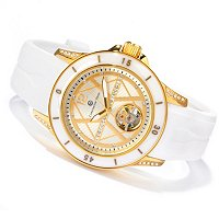 Constantin Weisz Women's Mechanical Silicone Strap Watch