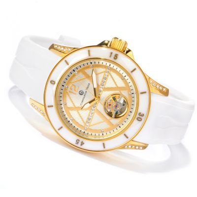 607-089 - Constantin Weisz Women's Mechanical Strap Watch Made w/ Swarovski® Elements