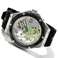 Constantin Weisz Men's Mechanical Skeleton Silicon Strap Watch