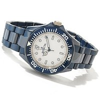 INVICTA MID SIZE CERAMIC QUARTZ DIVER BRACELET WATCH
