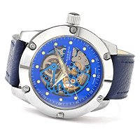 ANDROID MEN'S ANTIGRAVITY TUNGSTEN SKELETON AUTOMATIC STRAP WATCH