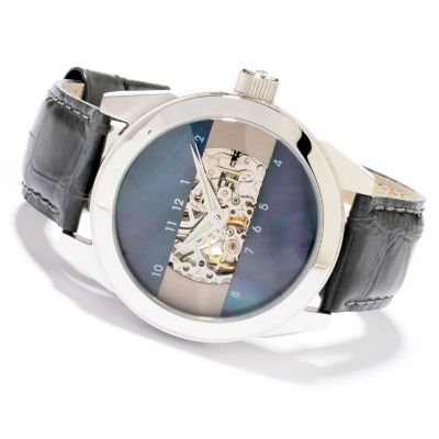 607-303 - Android Men's or Women's Horizon 2 Automatic Mother-of-Pearl Dial Leather Strap Watch