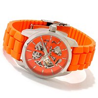 ANDROID MEN'S IMPETUS SKELETON AUTOMATIC STRAP WATCH