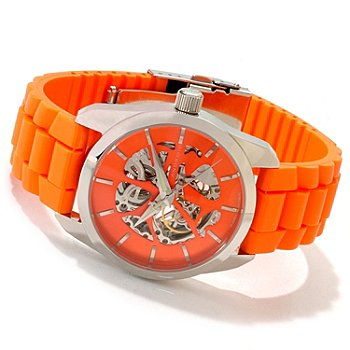 607-304 - Android Men's Impetus Automatic Skeleton Strap Watch