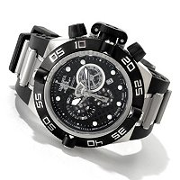 INVICTA MEN'S SUBAQUA NOMA IV STAINLESS STEEL CASE POLY STRAP WATCH