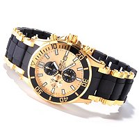 INVICTA MEN'S SEA SPIDER QUARTZ CHRONOGRAPH STAINLESS/POLY BRACELET WATCH