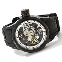 INVICTA MEN'S QUINOTAUR RUSSIAN DIVER COMBAT MECHANICAL SKELETON STRAP WATCH