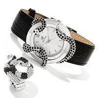 Arm Candy Snake Case Watch w/coordinating snake ring
