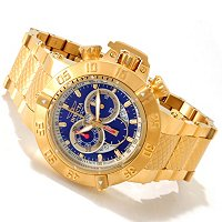 INVICTA MEN'S SUBAQUA NOMA III SWISS CHRONOGRAPH 18K GOLD PLATED BRACELET WATCH