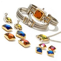Lady Diva Women's Interchangeable Crystal Cuff Watch & Jewelry Set