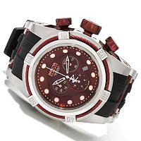 INVICTA RESERVE BOLT ZEUS SWISS CHRONO MOP DIAL STAINLESS CASE POLY STRAP WATCH