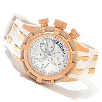 INVICTA RESERVE WOMEN'S BOLT SWISS MADE QUARTZ CHRONO MOP POLY WATCH W/3-SLOT DC