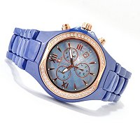 ONISS MEN'S ADORE CERAMICA CRYSTAL ACCENTED CERAMIC BRACELET WATCH