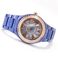 ONISS WOMEN'S LAFAYETTE CRYSTAL ACCENTED CERAMIC BRACELET WATCH