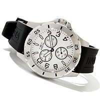 INVICTA MEN'S SPECIALTY QUARTZ STAINLESS CASE POLY STRAP WATCH