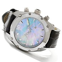 ANDROID MEN'S VIRTUOSO TUNGSTEN SWISS RETROGRADE CHRONO STRAP WATCH