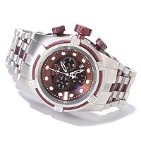 INVICTA RESERVE MEN'S BOLT ZEUS SWISS QUARTZ CHRONO MOP STAINLESS BRACELET WATCH