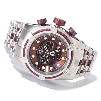 607-459 - Invicta Reserve Men's Bolt Zeus Swiss Chronograph Mother-of-Pearl Bracelet Watch