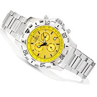 INVICTA MEN'S PYTHON SPORT QUARTZ CHRONO STAINLESS BRACLET WATCH / 3 SLOT DC