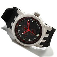 INVICTA MEN'S DNA AVIATION DAY & DATE SILICONE STRAP WATCH