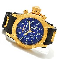 INVICTA MEN'S RUSSIAN DIVER OFF SHORE ANNIVERSARY ED. CHRONO POLY STRAP WATCH