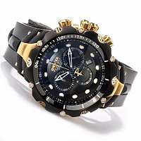 INVICTA RESERVE MENS VENOM GEN II SWISS CHRONO PU STRAP WATCH