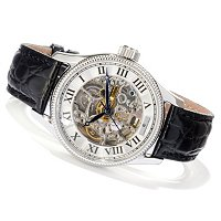 CONSTANTIN WEISZ MEN'S SKELETON AUTOMATIC STRAP WATCH