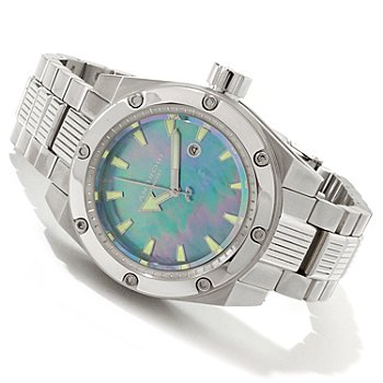 607-640 - Android Men's Powerjet 9015 Automatic Mother-of-Pearl Bracelet Watch