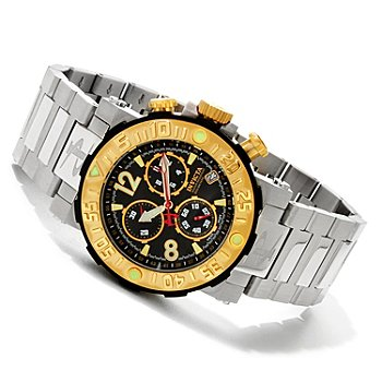 607-659 - Invicta Reserve Men's Sea Rover Swiss Chronograph Bracelet Watch w/ 8-Slot Dive Case