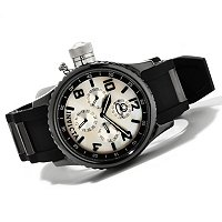 TTV INVICTA QUINOTAUR RUSSIAN DIVER CERAMIC CASE PU STRAP WATCH
