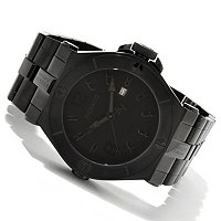 RENATO MEN'S WILDEBEAST SWISS CHRONOGRAPH BLACK BRACELET WATCH