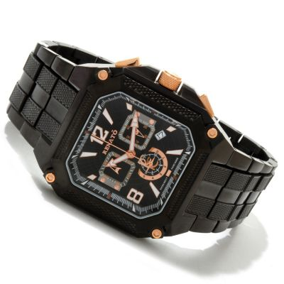 607-701 - Renato Men's Cougar Limited Edition Swiss Quartz Chronograph Stainless Steel Bracelet Watch