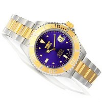 INVICTA MEN'S PRO DIVER DIAMOND AUTOMATIC BRACELET WATCH