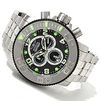 INVICTA MEN'S SEA HUNTER SWISS MADE QUARTZ CHRONO STAINLESS STEEL BRACELET WATCH