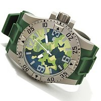 INVICTA MEN'S EXCURSION CAMO QUARTZ STRAP WATCH W/ 3DC