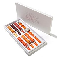 INVICTA WOMEN'S CLASSQUE CRYSTAL 7PC STRAP WATCH SET