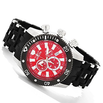 607-837 - Invicta Men's Sea Spider Quartz Chronograph Polyurethane Bracelet Watch