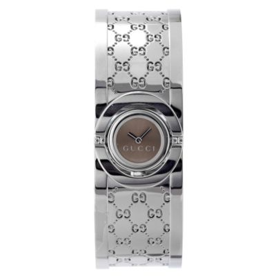 608-140 - Gucci Women's Twirl Beige Dial & Stainless Steel Bracelet Watch