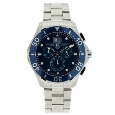 608-357 - Tag Heuer Men's Blue Dial & Stainless Steel Bracelet Watch