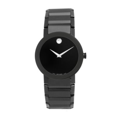 609-348 - Movado Men's Swiss Quartz Black Stainless Steel Bracelet Watch