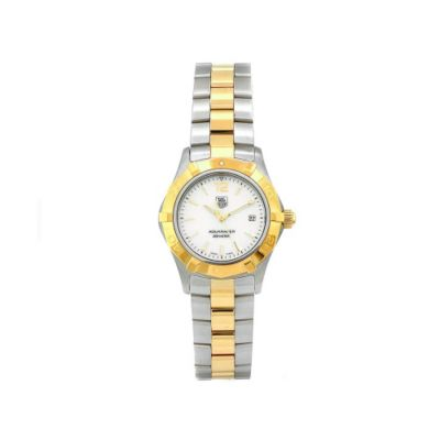 609-509 - Tag Heuer Women's Aquaracer Swiss Quartz Silver-tone Dial Two-tone Bracelet Watch