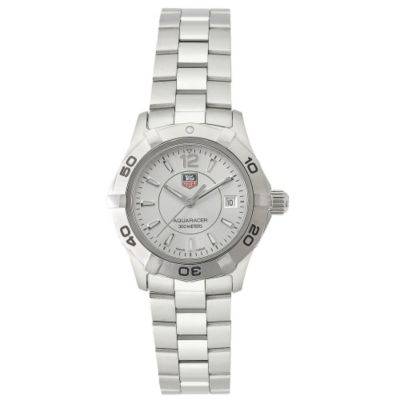 609-614 - Tag Heuer Women's Aquaracer Swiss Quartz Silver-tone Dial Bracelet Watch