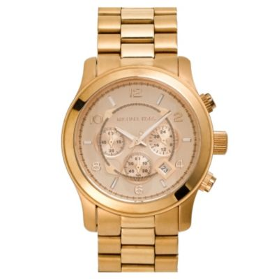 610-087 - Michael Kors Men's Runway Quartz Chronograph Rose-tone Bracelet Watch