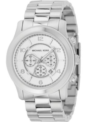 610-255 - Michael Kors Men's Classic Japanese Quartz Silver-tone Chronograph Dial Bracelet Watch