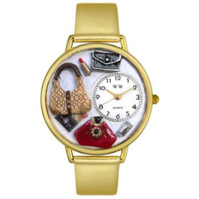611-281 - Whimsical Watches Mid-Size Japanese Quartz Purse Lover Leather Strap Watch