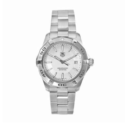 611-592 - Tag Heuer Men's Aquaracer Swiss Quartz Silver-tone Stainless Steel Watch