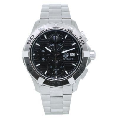 612-115 - Tag Heuer Men's Aquaracer Swiss Automatic Chronograph Black Dial Stainless Steel Bracelet Watch